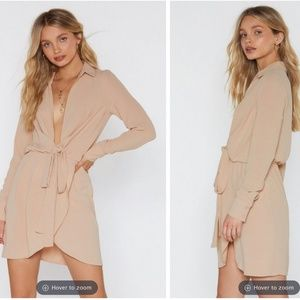 "Nasty Gal ""Never Tied Down"" Shirt Dress"